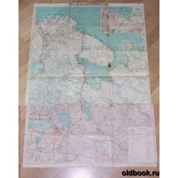 Карта северной части Европейской России. 19?? г.